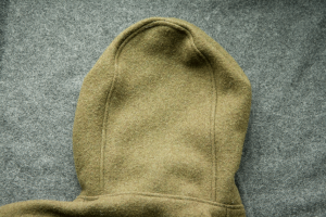 Lester River Bushcraft Boreal Shirt Rear Hood Panel. This is both functional and esthetic; it keeps the hood from falling over your eyes, and it avoids the pointy-hooded medieval wizard look.