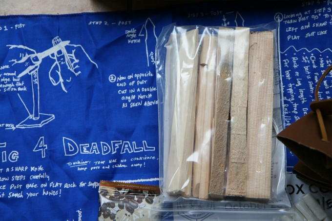 Everyone should practice making a deadfall.