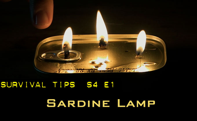 Make a Lamp From a Can of Sardines and a Twig