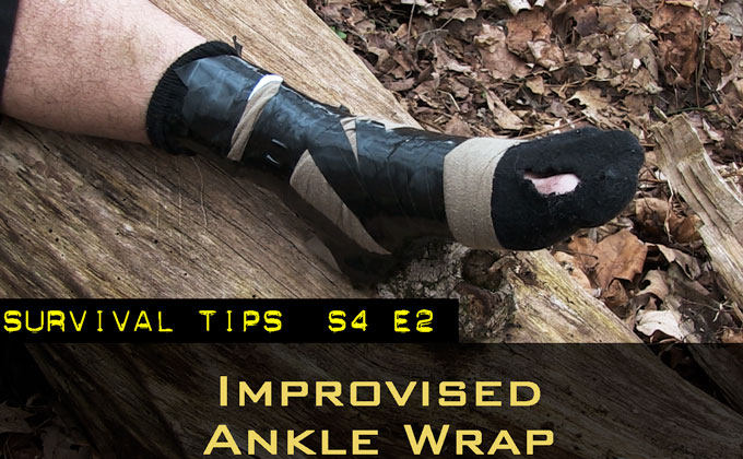 Improvised Ankle Wrap