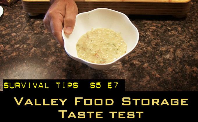 Valley Food Storage Taste Test