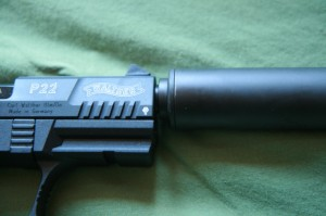 Yankee Hill Machine Mite on a Walther P22