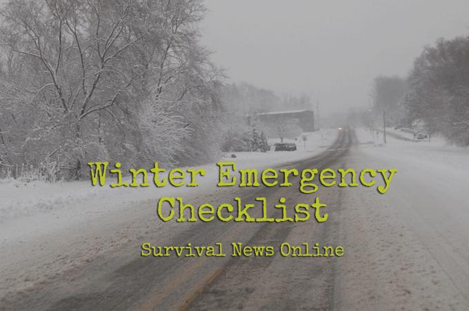 Winterize Your Emergency Preps — Checklist